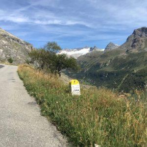 10 km voor de top van Col de l'Iseran